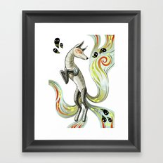 Mechanical Fox Framed Art Print