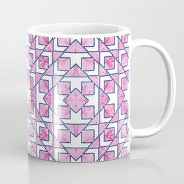 Beautiful Pink and Blue Geometric Pattern Coffee Mug