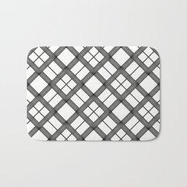 Modern Grey and white chris cross pattern Bath Mat