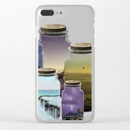 Bottled World Clear iPhone Case
