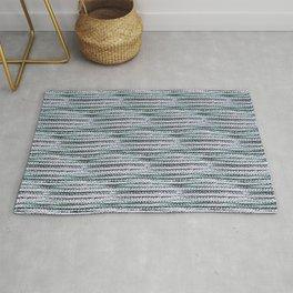 Knitting-like crochet texture Rug