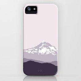 Snow Capped Mountain Landscape - Purple iPhone Case