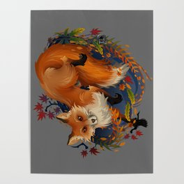 Sly Fox Spirit Animal Poster