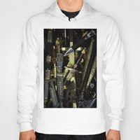 arsenal Hoodies featuring  Collage - Daggers, Dirks and Sabres by digital2real
