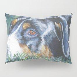 Greater Swiss Mountain Dog portrait art from an original painting by L.A.Shepard Pillow Sham