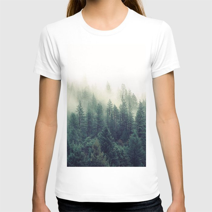 Foggy Winter Forest T-shirt