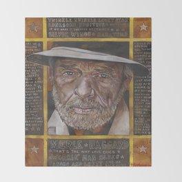 Merle Haggard Throw Blanket