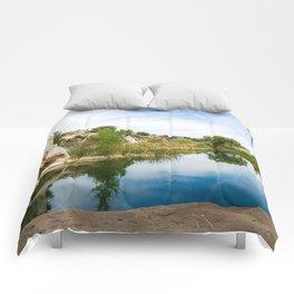Summer Swimming Pond Comforters