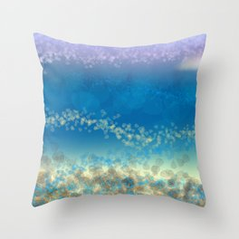 Abstract Seascape 03 wc Throw Pillow