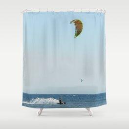 Kitesurf in the Atlantic Ocean Shower Curtain