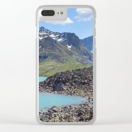 Alaska Glacial Lake Clear iPhone Case