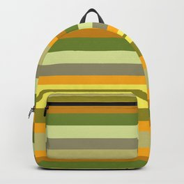 Yellow, Green, Orange Stripes Backpack