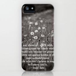 roald dahl's magic iPhone Case