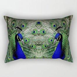 Proud Peacock Rectangular Pillow