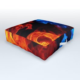 Fire and Ice Outdoor Floor Cushion