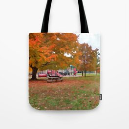 Autumn Playground Tote Bag