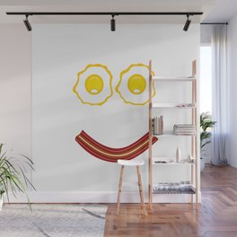 Bacon And Eggs Happy Face Wall Mural