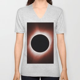 Solar Eclipse August 21, 2017 Unisex V-Neck