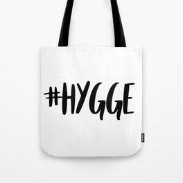 #hygge - scandi quote trend hashtag Tote Bag