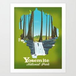 Yosemite National park waterfall. Art Print