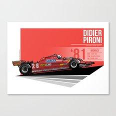 Didier Pironi -  1981 Monaco Canvas Print