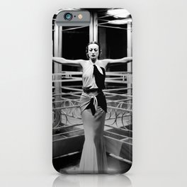 Joan Crawford, Hollywood Starlet Grand Hotel black and white photograph / art photography iPhone Case