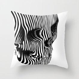 Skull Lines Tattoo Throw Pillow