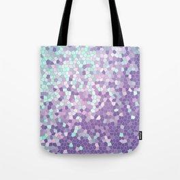 Aqua and Violet Purple Mosaic Tote Bag