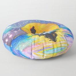 The Little Mermaid Galaxy Floor Pillow