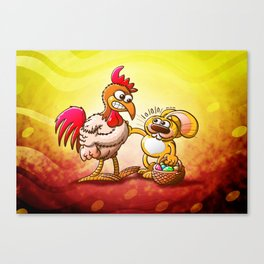 Easter Bunny in Trouble Canvas Print