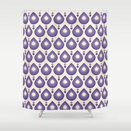 Drops Retro Ultra Violet Shower Curtain