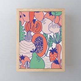 Fresh fruits and veggies Framed Mini Art Print