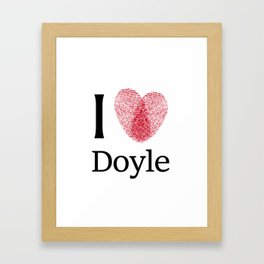 iDoyle Framed Art Print