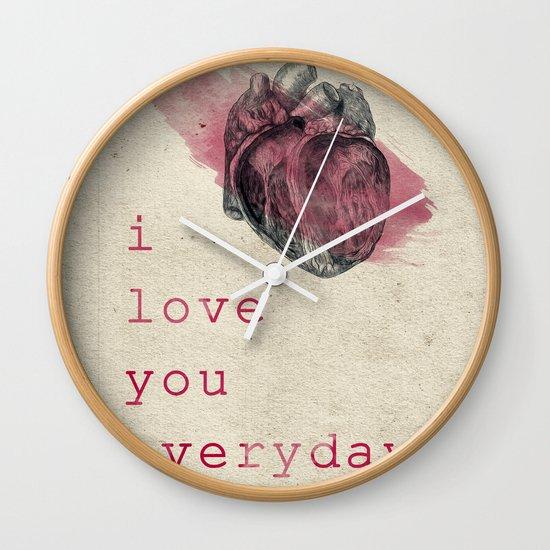 i_love_you_everyday Wall Clock