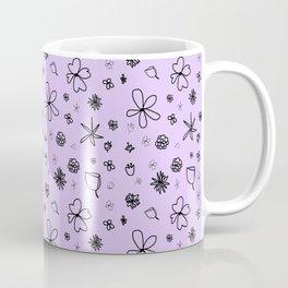 Periwinkle Flower Power Coffee Mug