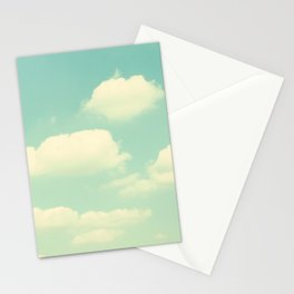 Mint Turquoise Sky Clouds, Teal Nursery Cloud Photography, Baby's Room Photo Stationery Cards