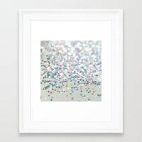 glitter Framed Art Prints featuring GliTTER by Monika Strigel