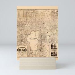 Map Of Lake Tahoe 1874 Mini Art Print
