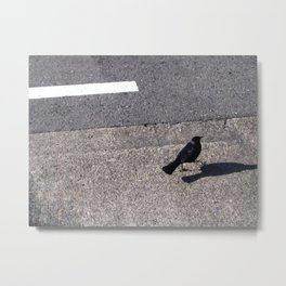Little Birdie Black Metal Print