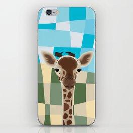 Wild Giraffe Baby on the grassland iPhone Skin