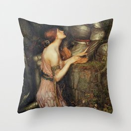 Lamia and the Soldier - Princess and Knight by John William Waterhouse Throw Pillow