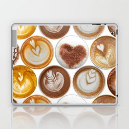Latte Polka Dots in White Laptop & iPad Skin