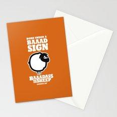 Baaadass the Sheep: Born Under a Baaad Sign Stationery Cards