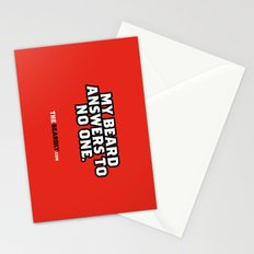 MY BEARD ANSWERS TO NO ONE. Stationery Cards