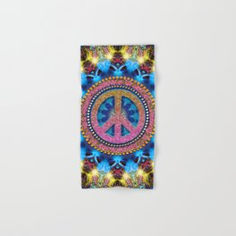 Groovy Hippie Love Mandala Hand & Bath Towel