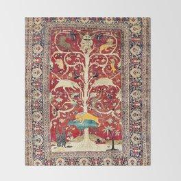 Silk Heriz Azerbaijan Northwest Persian Rug Print Throw Blanket