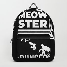 Dungeon Meowster Nerd Cat Backpack