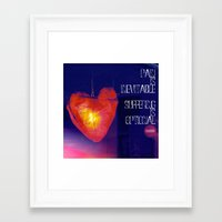 murakami Framed Art Prints featuring H. Murakami quote -1 by dollmadeinjapan