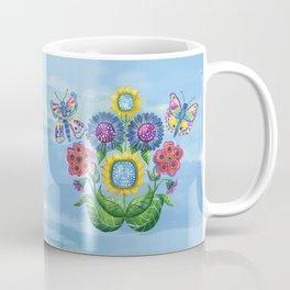 Butterflies and Flowers Coffee Mug