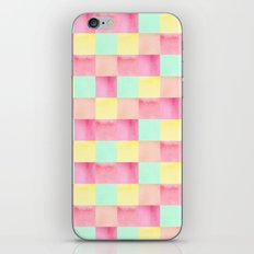 Watercolor square pattern iPhone & iPod Skin
